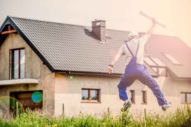 man building architect joy